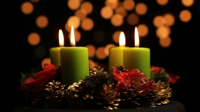 Advent wreath Adventskranz video