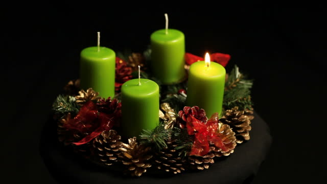 Advent wreath video