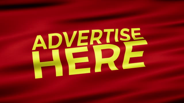 Advertise Here Seamless Loop Sign Label
