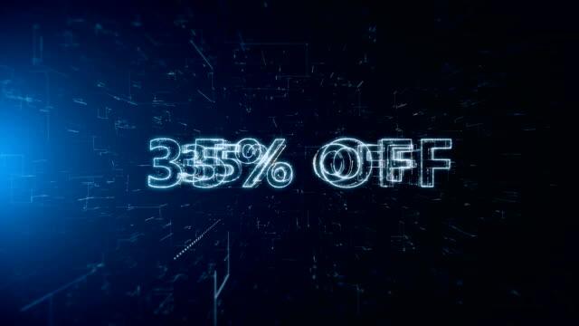 advertisement text banner 35 percent off - дискаунтер стоковые видео и кадры b-roll