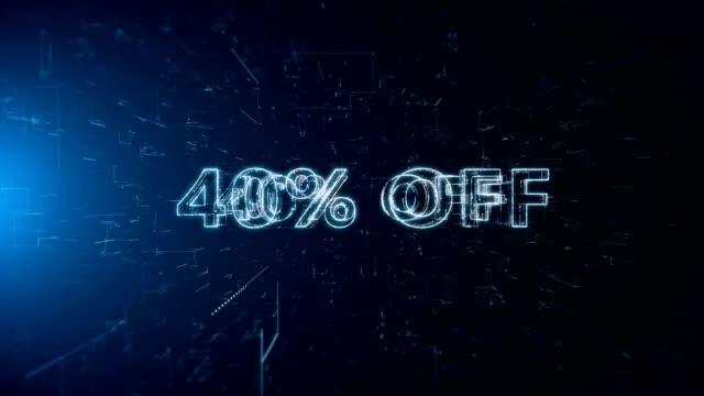 advertisement text banner 40 percent off - дискаунтер стоковые видео и кадры b-roll