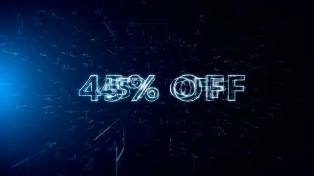 advertisement text banner 45 percent off - дискаунтер стоковые видео и кадры b-roll