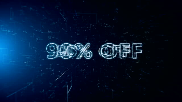 advertisement text banner 90 percent off - дискаунтер стоковые видео и кадры b-roll