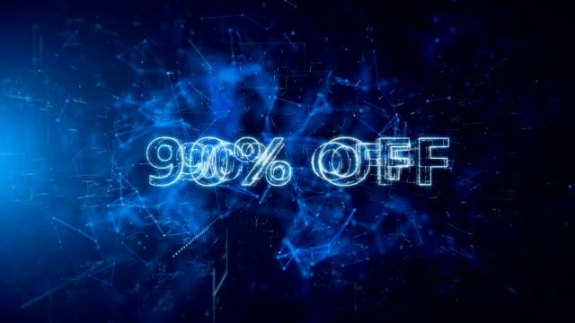 advertisement text, promotion 90% off - дискаунтер стоковые видео и кадры b-roll