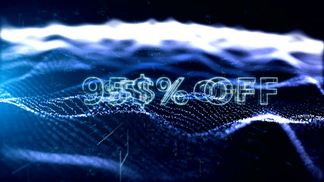 advertisement text, promotion 95% off - дискаунтер стоковые видео и кадры b-roll