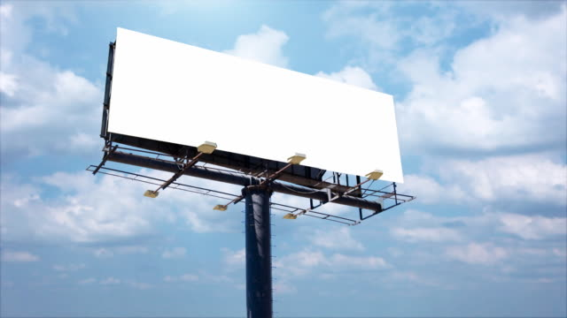 Advertising billboard for titles video