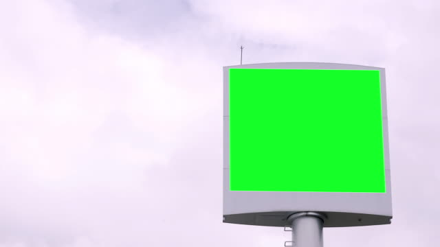 Advertising Billboard Green screen video