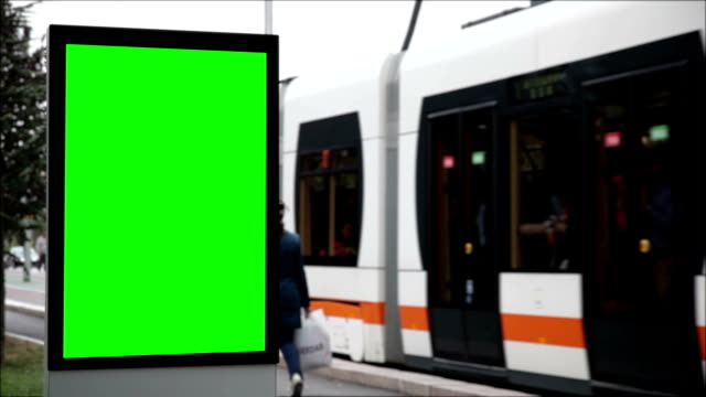 Advertising Billboard with Green Screen video