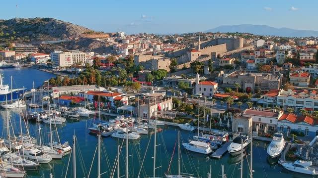 Aegean Town in Anatolia Çeşme, İzmir aegean sea stock videos & royalty-free footage
