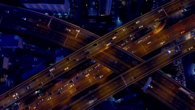 Aeiral scene of Multiple lane highway traffic in rush hour, 4k video Aeiral scene of Multiple lane highway traffic in rush hour, 4k video directly above stock videos & royalty-free footage