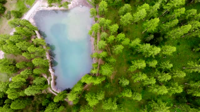 aerail 4k, beautiful small lake in french alps - hautes alpes stock videos & royalty-free footage