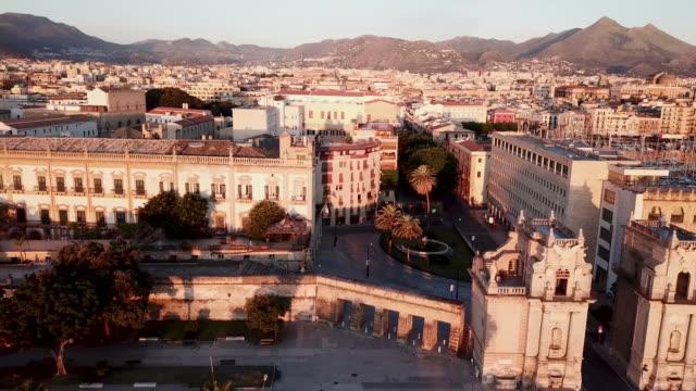 aereal 的看法西西里島的巴勒莫 - sicily 個影片檔及 b 捲影像