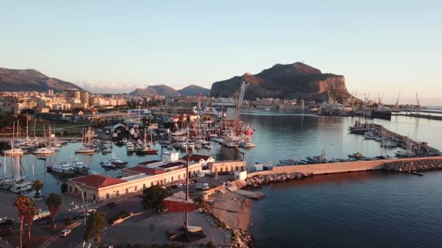 西西里島巴勒莫港 - sicily 個影片檔及 b 捲影像