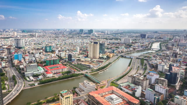 aerial 4K Time-lapse: Ho Chi Minh Viatnam video