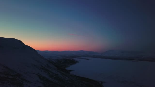 aerial abisko sunset - norrbotten bildbanksvideor och videomaterial från bakom kulisserna