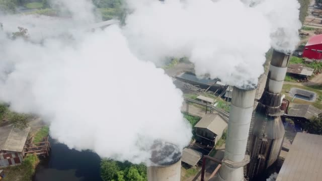 Aerial air pollution Built Structure, Coal-fired Power Station coal stock videos & royalty-free footage