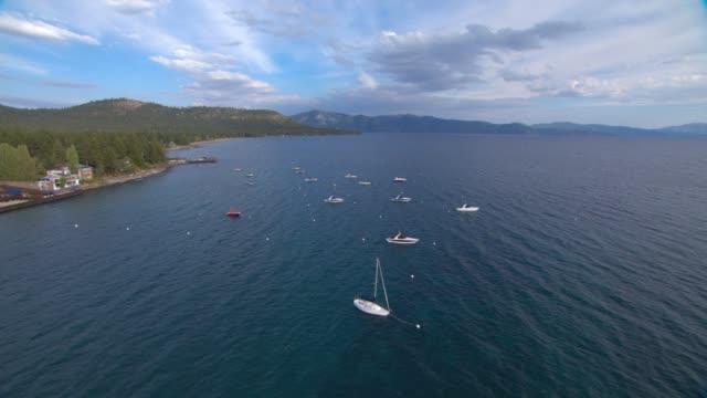 veduta aerea america lake tahoe 01 - brent video stock e b–roll