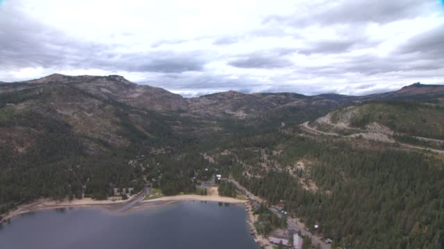veduta aerea america lake tahoe 03 - brent video stock e b–roll