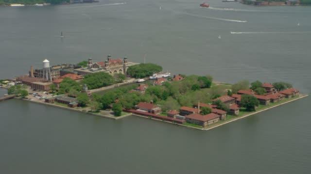 veduta aerea di new york city, america - brent video stock e b–roll