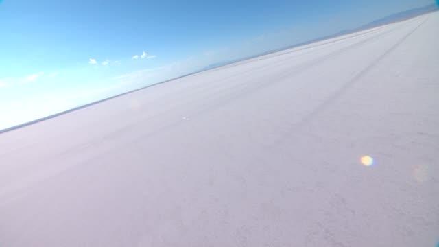 veduta aerea america salt flats - brent video stock e b–roll