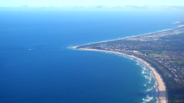 Aerial Australian Coastline Beach video