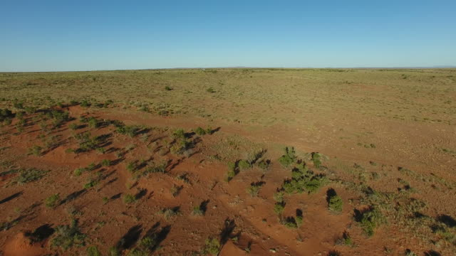 Aerial - Australian outback straight road video