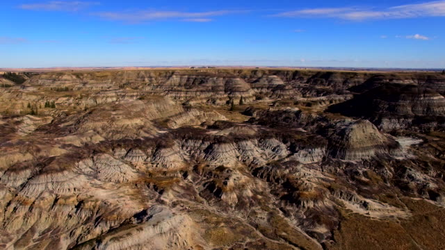 Aerial background arid landscape video