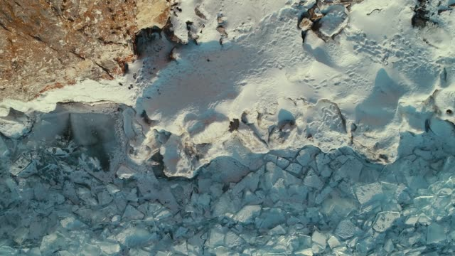 Aerial Baikal Ice Experience Aerial Baikal Ice Video in 4k from drone. Absolutely frozen. siberia stock videos & royalty-free footage