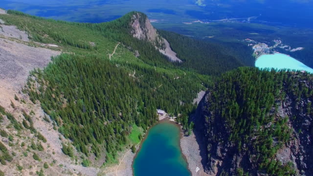 Aerial beautiful landscape mountains lakes video
