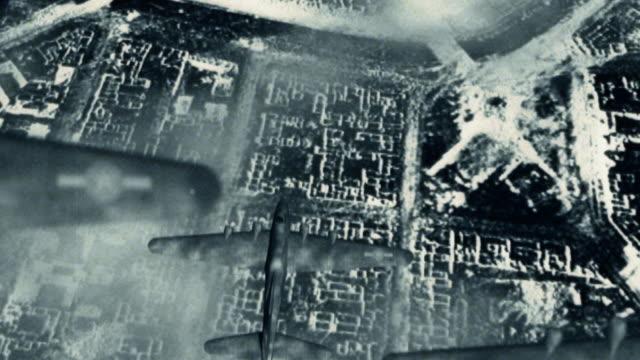 aerial bombardment world war two b-17 bombers - berlin city bildbanksvideor och videomaterial från bakom kulisserna