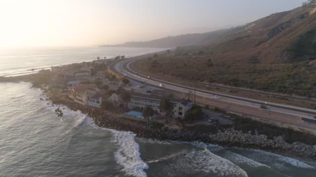 aerial kaliforniens kust - kustlinje bildbanksvideor och videomaterial från bakom kulisserna
