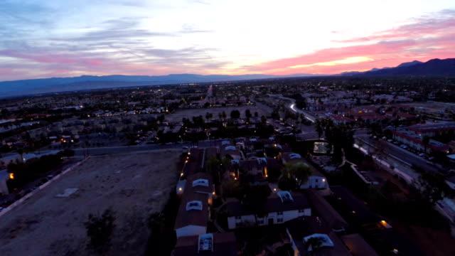 Aerial California Palm Springs video