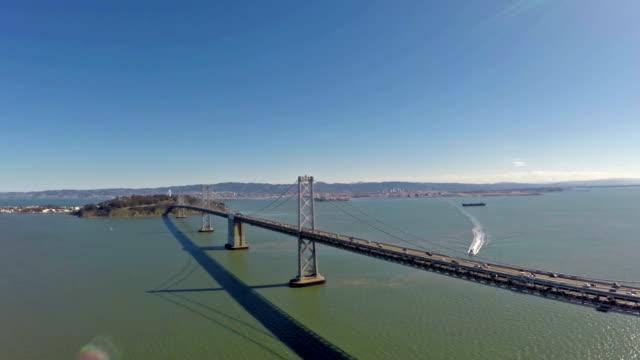 Aerial California SF Bay Bridge video