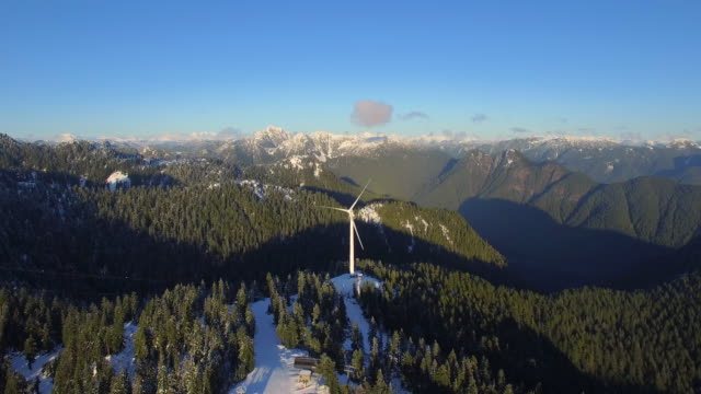 Aerial Canada Vancouver BC Aerial video of Grouse Mountain in Vancouver BC, Canada. vancouver canada stock videos & royalty-free footage
