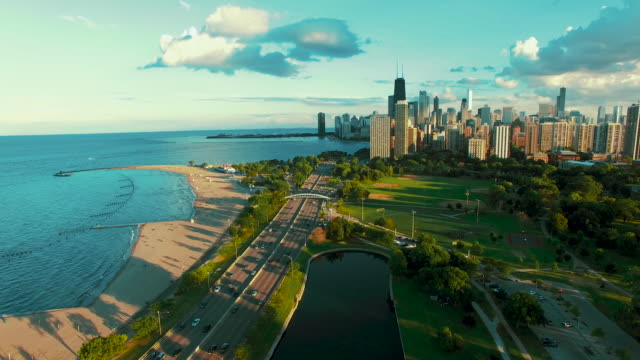 Aerial - Chicago Lakefront