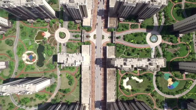Chinesa aérea de arranha-céu residencial - vídeo