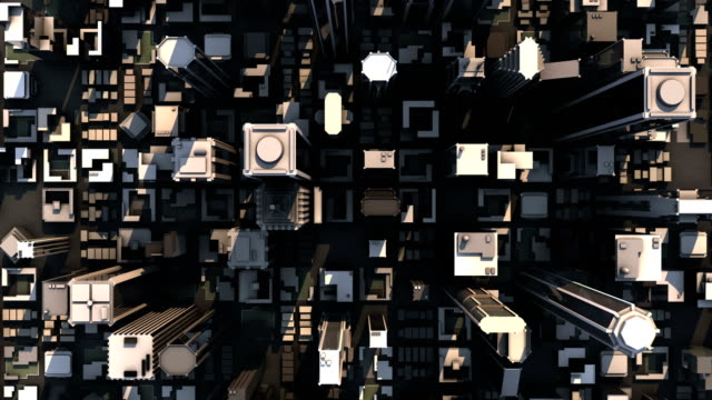 Aerial City Buildings (HD Loop) video