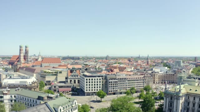 Luftansicht der bayerischen Landeshauptstadt München – Video