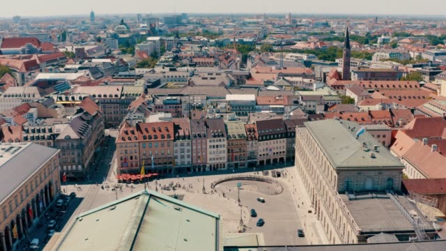 Luftansicht der Innenstadt von München, Bayern, Deutschland – Video