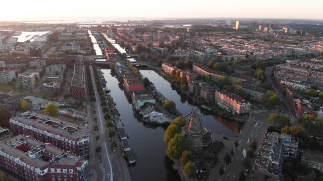 アムステルダムの空中都市の景観 - オランダ点の映像素材/bロール