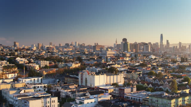Aerial Cityscape of San Francisco Around Castro and Market video