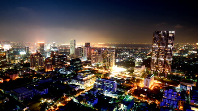 Aerial cityscape view in Asia video