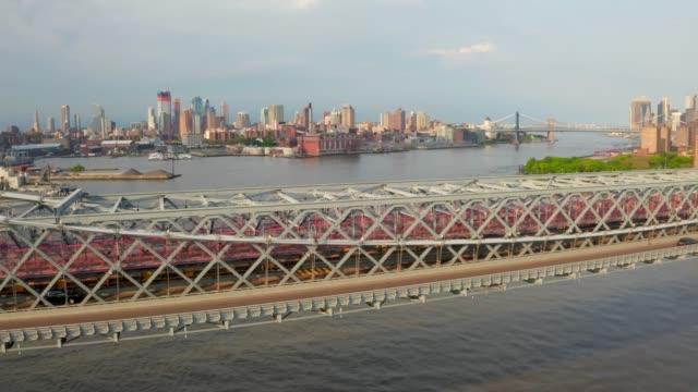 Aerial close up view of the George Washington Bridge