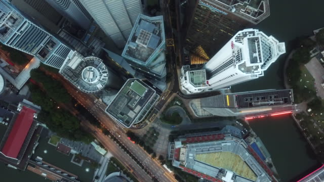 Aerial Direct above City