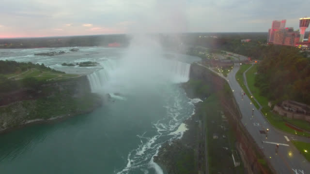 Aerial Done Footage of Falls In 4k video