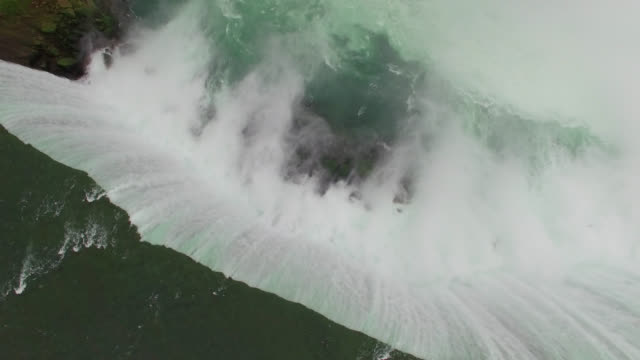 aerial done footage of falls in 4k - niagara falls stock videos & royalty-free footage