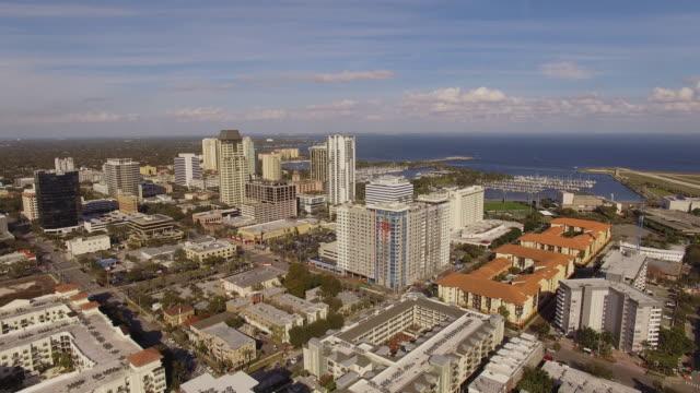 Aerial Downtown Saint Petersburg Florida video
