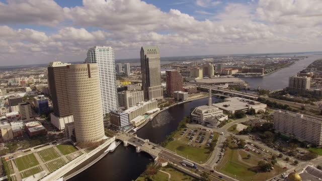 Aerial DOWNTOWN Tampa Florida video