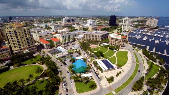 Aerial Downtown West Palm Beach video