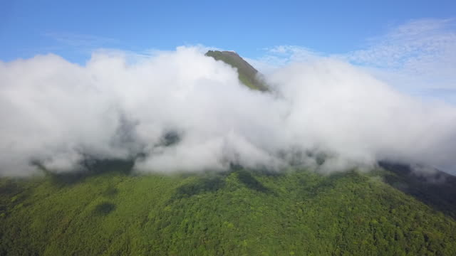 Aerial Drone Arenal Volcano in Costa Rica